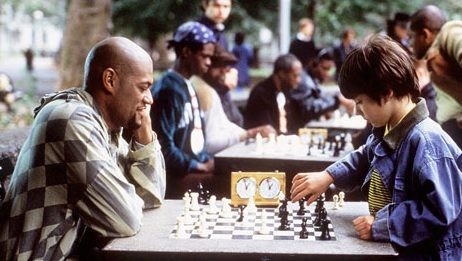 "Near the end of the film ""Searching for Bobby Fischer"""